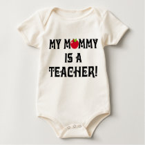 Teacher Mommy School Apple Baby Tshirt