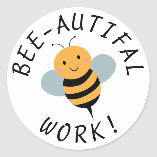 Teacher Motivational Stickers Funny Bee Sticker Zazzlecom