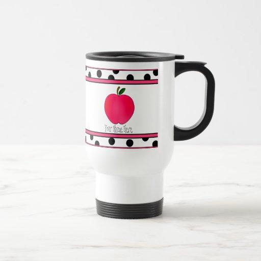 Teacher Mug - Polka Dot Apple Travel Mug