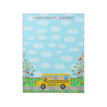 Teacher Name Classroom Notes | Cute Animals on Bus