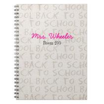 Teacher Notebook Back To School Spiral Book