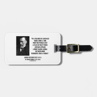 Teacher Of Languages Talking Animal Parrot Conrad Luggage Tag