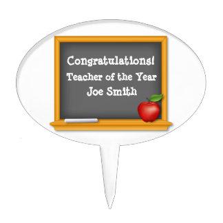 Teacher of the Year, Congratulations! Cake Topper