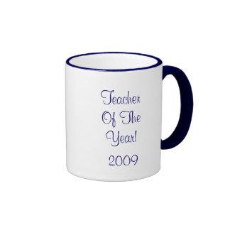 Teacher Of The Year! Ringer Coffee Mug