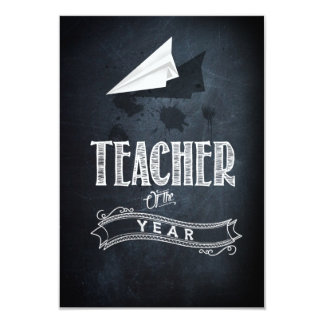 Teacher of to year card