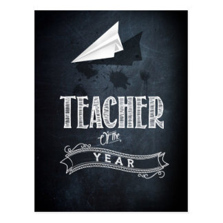 Teacher of to year postcard