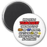 Teacher .. OMG WTF LOL Fridge Magnet