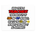Teacher .. OMG WTF LOL Post Cards