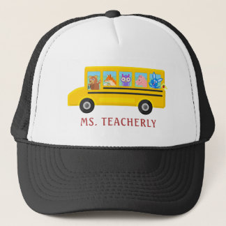 Teacher or Bus Driver Cute Animals | Personalized Trucker Hat