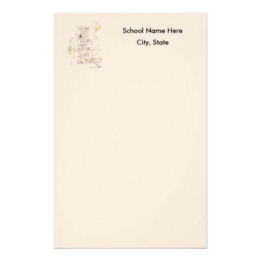 Teacher or School Stationary Personalized Stationery