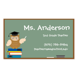 Teacher Owl Business Card