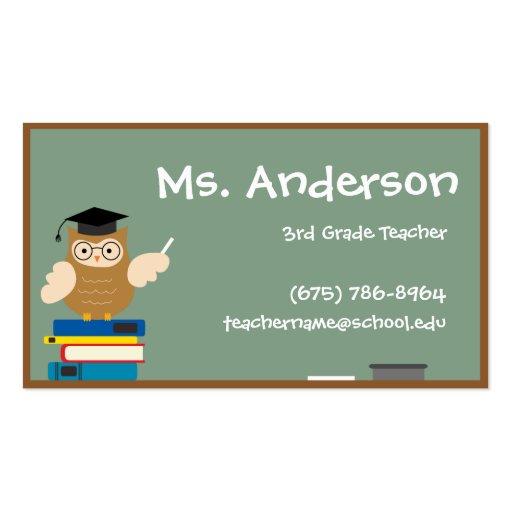 Teacher owl business card zazzle for Owl business cards