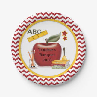 Teacher Party Plate Can Be Personalized