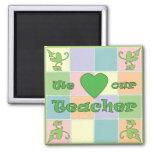 Teacher Patchwork (Green) Magnet