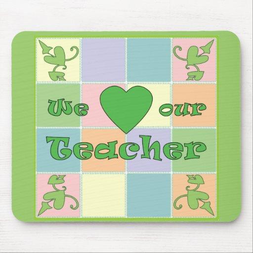 Teacher Patchwork (Green) Mouse Pad