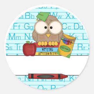 Teacher Personalized Classic Round Sticker