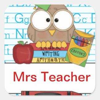 Teacher Personalized Square Sticker