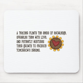 Teacher Plants Seeds Tshirts and Gifts Mouse Pad