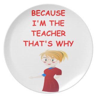 teacher dinner plate