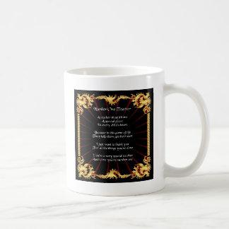 Teacher  Poem  -   Black Design Coffee Mug