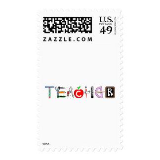 Teacher Postage Stamp