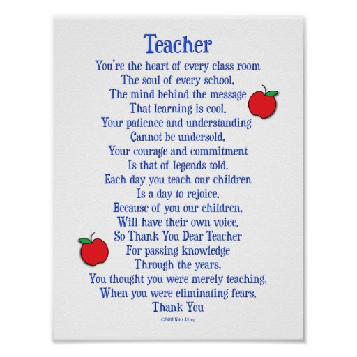 Sayings Or Poems For Appreciation For Para Professional ...