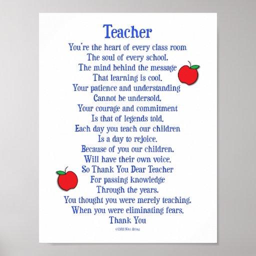 Teacher Poems for Pinterest