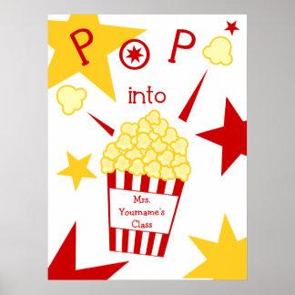 Teacher Poster - Popcorn & Stars