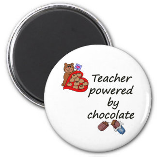 Teacher powered by Chocolate 2 Inch Round Magnet