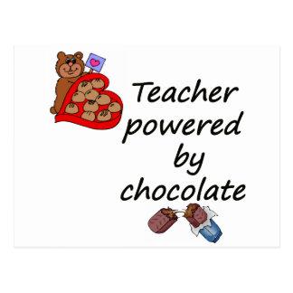 Teacher powered by Chocolate Postcard