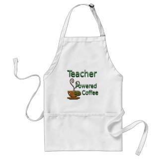 Teacher Powered by Coffee Adult Apron