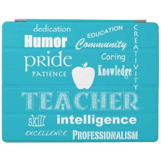 Teacher Pride+Apple/White Text Design iPad Smart Cover