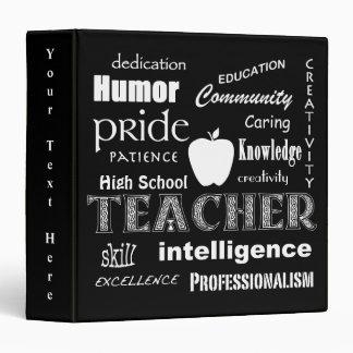 Teacher Pride-Attributes/Black 3 Ring Binder