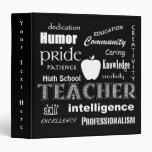 Teacher Pride-Attributes/Black 3 Ring Binders