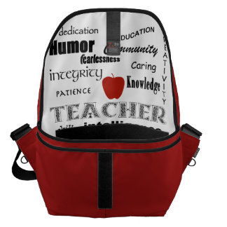 Teacher Pride+Red Apple Courier Bag