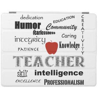 Teacher Pride+Red Apple/Word Cloud iPad Smart Cover