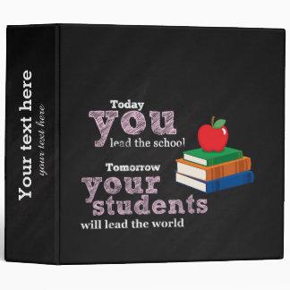 Teacher quote binder