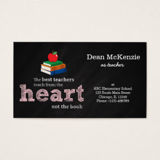 Teacher quote business card