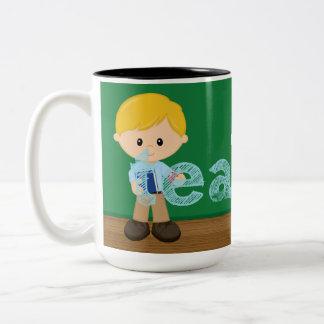 Teacher quote Two-Tone coffee mug
