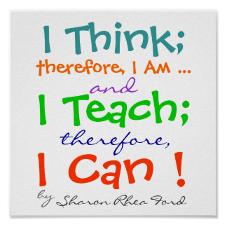 Teacher Quote Poster by SRF