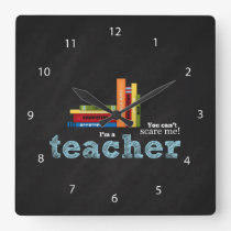 Teacher quote square wall clock