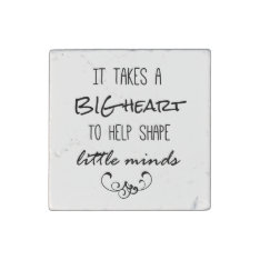 Teacher Quote Stone Magnet at Zazzle