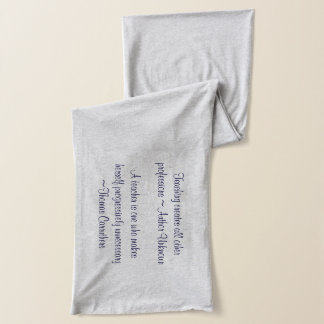Teacher Quotes (for females) - personalized scarf