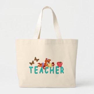 Teacher Reading Canvas Bag
