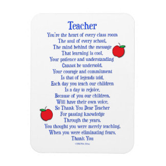 Teacher Rectangular Photo Magnet