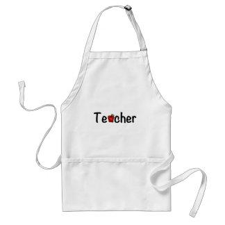 Teacher Red Apple Whimsical Happy Design Adult Apron