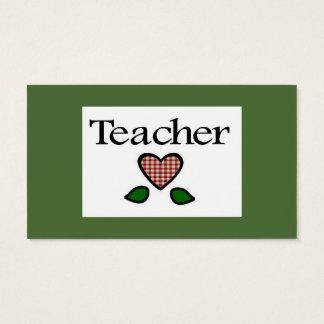 Teacher Red GH Business Card