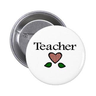 Teacher Red GH Pinback Button