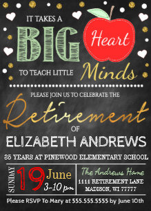 teacher retirement invitations zazzle