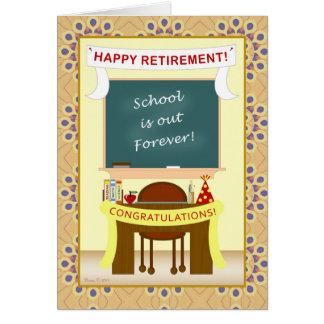 Teacher Retirement Classroom Card